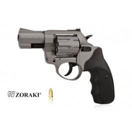 """Rewolwer alarmowy ZORAKI K-6L 2,5"""", kal. 6mm LONG, tytanowy, okładzina czarna ABS"""