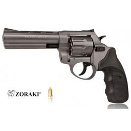 """Rewolwer alarmowy ZORAKI K-6L 4,5"""", kal. 6mm LONG, tytanowy, okładzina czarna ABS"""