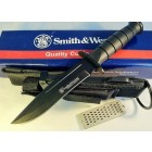 Nóż Smith & Wesson Search & Rescue 440 Clip Point Black Fixed - CKSUR1