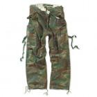 Spodnie Bojówki M65 FATIGUES SURPLUS woodland