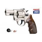 Rewolwer hukowy na kule gumowe ZORAKI K-10 kal.6mm short/10mm, satyna, okł. brąz